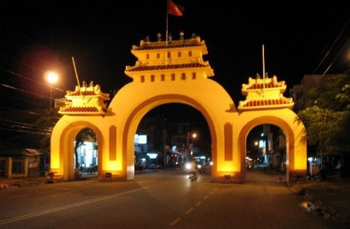 entry gate into Rach Gia, the fishing town my dad grew up in Vietnam