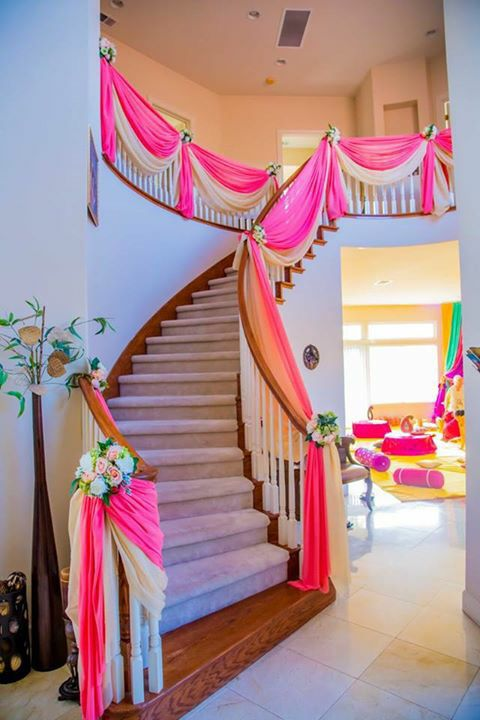 Home Wedding Decoration Ideas diy wedding decor Hanging Indian Decorations Indian Inspired Draped Hanging Decor Pinterest House Decorations Wedding And Mehendi