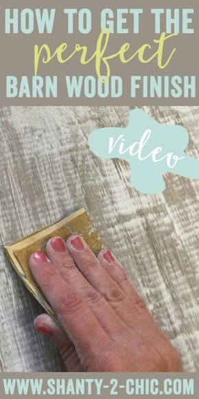 Learn how to get the perfect barn wood finish, chippy paint finish, distressed finish and distressed paint finish on your furniture! Quick and easy how-to video tutorial by www.shanty-2-chic.com
