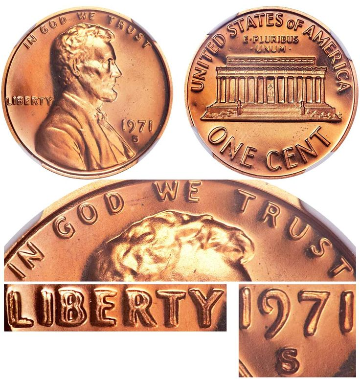 1971 S Doubled Die Obverse Ddo Lincoln Memorial Cent Penny