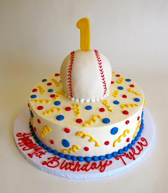 Baseball Dome First Birthday by Creative Cakes - Tinley Park, via Flickr