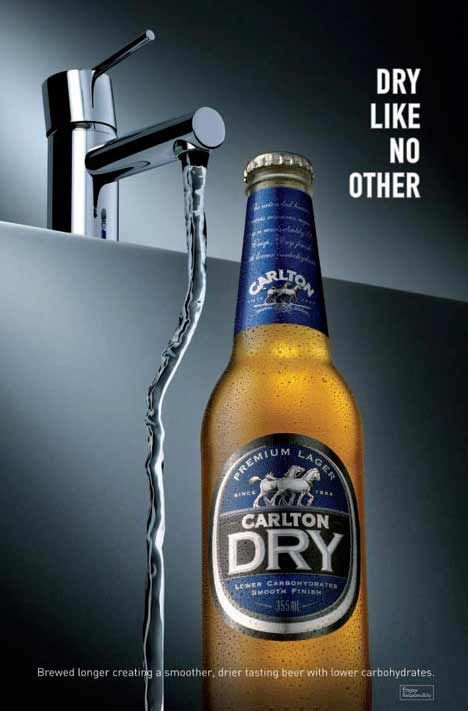 Carlton Dry Like No Other Beer