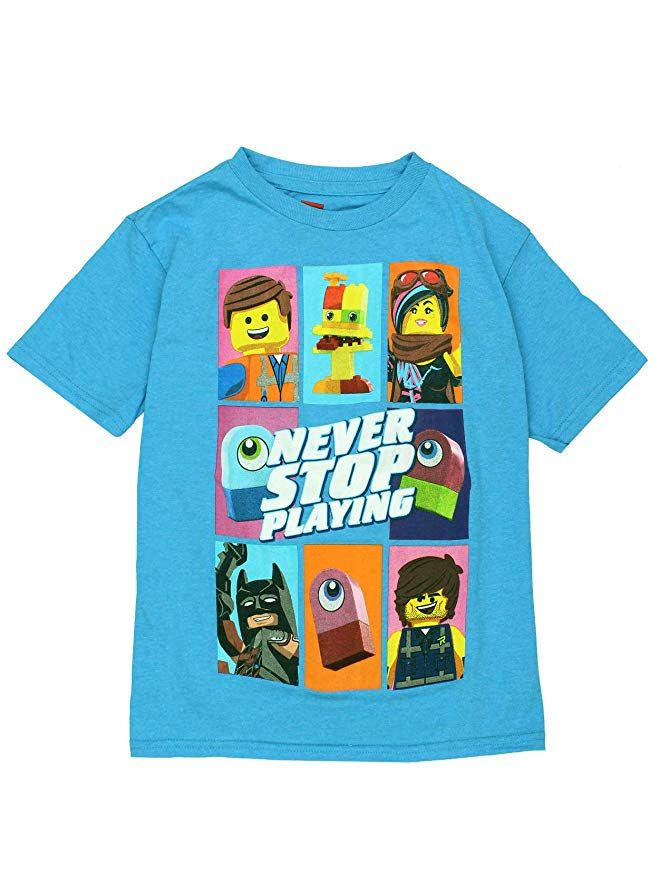 1e044956f2 Lego Movie 2 The Second Part Boys Girls Short Sleeve Tee This t-shirt  features screen printed graphics of Lego Movie 2 characters  Emmet