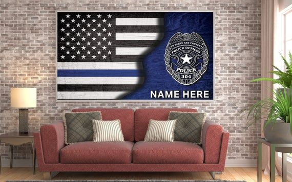 Police Officer Decor Police Officer Gifts Canvas Wall Art Etsy In 2020 Police Officer Gifts Gifts For Office Etsy Wall Art