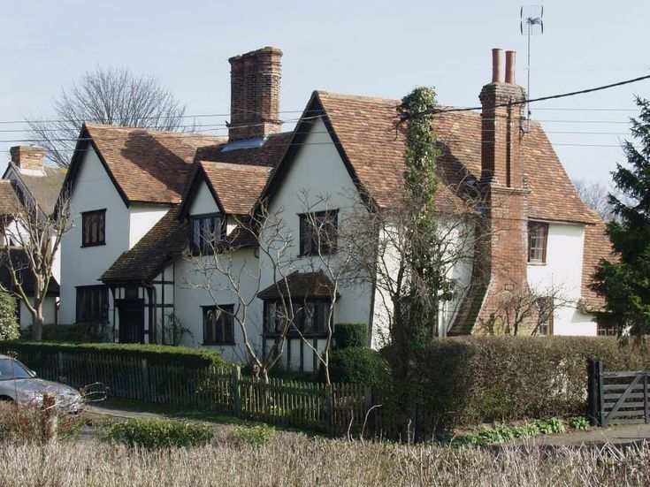 'Cabbaches' - a medieval house, Finchingfield, Essex, England