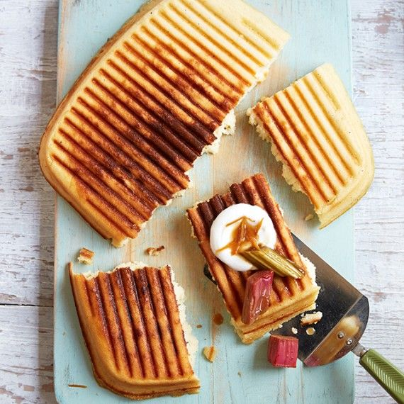 Fodmap Griddle Pan Waffle With Orange and Rhubarb Compote - Woman And Home