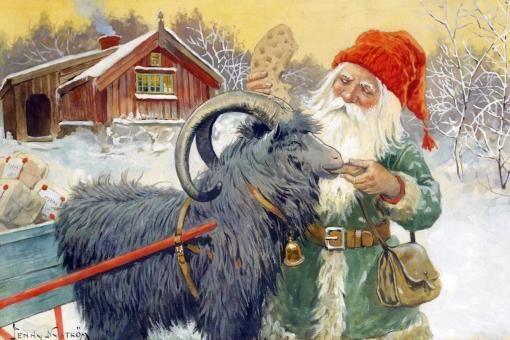 Санта-Клаус с рождественскими подарками