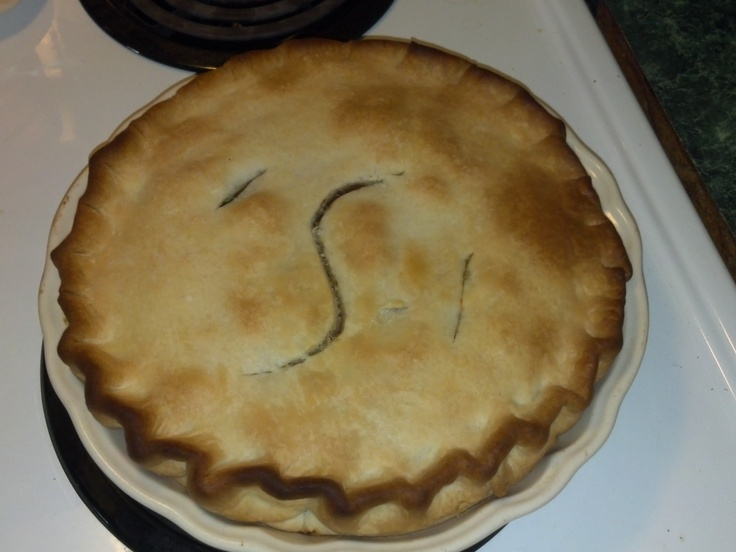 A quick dinner!  Put 2 cans of Dinty Moore Beef Stew into refrigerated pie crust and get a wonderful beef pot pie!  Brock and Daphne loved this!