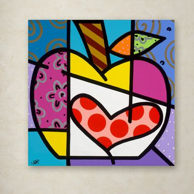 "Trademark Art Big Apple III by Roberto Rafael Painting Print on Wrapped Canvas Size: 24"" H x 24"" W x 2"" D"