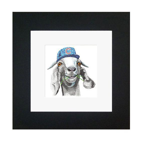 Chicago Cubs Goat Limited Edition Prints by JillLemieuxArtStudio