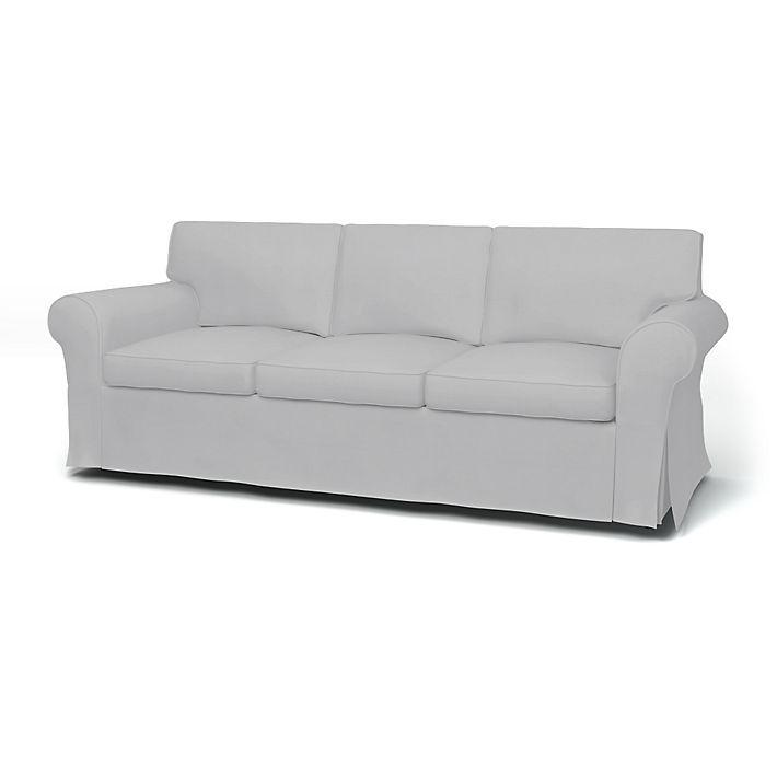 Ektorp, Housses de canapé, Convertible 3 places, Regular Fit utiliser le tissu Panama Cotton Silver Grey