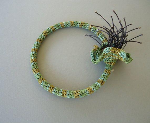 Crochet necklace statement necklace. A visual by PopisBOUTIQUE