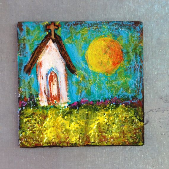 Folk Art Paintings Etsy