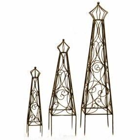 Have to have it. Deer Park Metal Crown Top Obelisk Trellis Topiaries $199.99