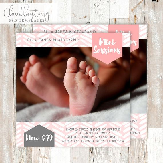 Photography Mini Session Card - Customizable Photoshop Template
