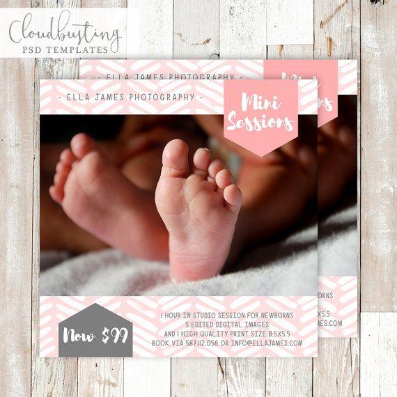Photography Mini Session Card - Customizable Photoshop Template