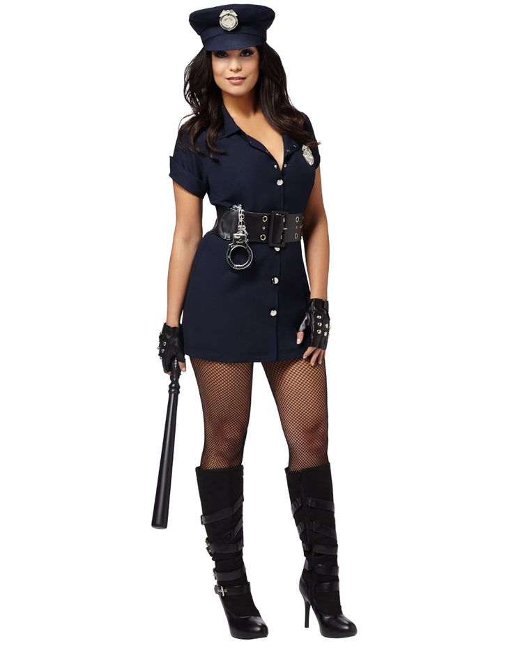 In The Line Of Duty Adult Womens Costume  Costumes For Women, Cop Halloween Costume, Cop Costume-9184