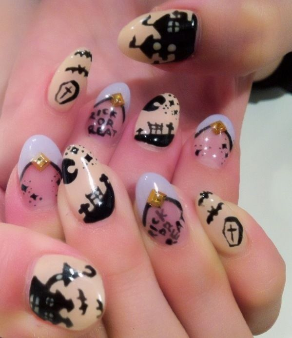 Kawaii nail art pastel goth grunge pinterest - Cute nail art designs to do at home ...