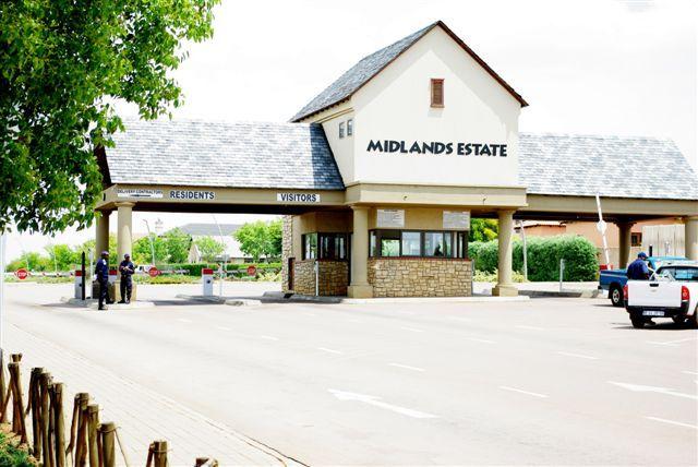 One of the main security entrances at Midlands Estate. For more information visit www.midrand-estates.co.za