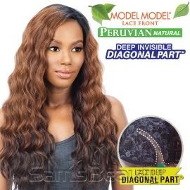 ModelModel Synthetic Lace Front Wig Peruvian Natural Collection Deep Invisible Diagonal part Foxy Deep - Samsbeauty