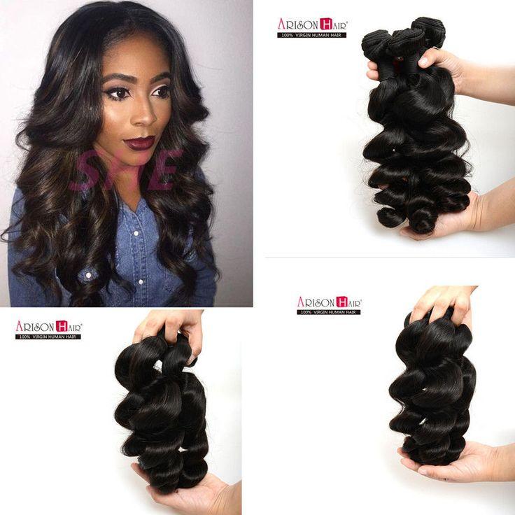 3 Extensions Cheveux Loose Wave Tissage Ondulé Humains Naturel Brésilien Tresse