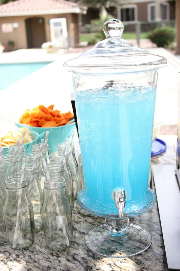Blue raspberry punch: Water Bottle, Raspberries Punch, Blue Raspberries Lemonade, Design Dazzle, Party Punch, Party Idea, Kids, Blue Punch, Baby Showers