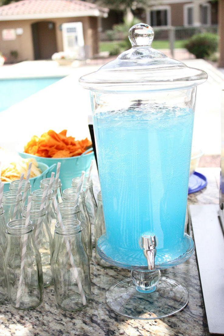 blue raspberry lemonade punch baby shower ideas pinterest