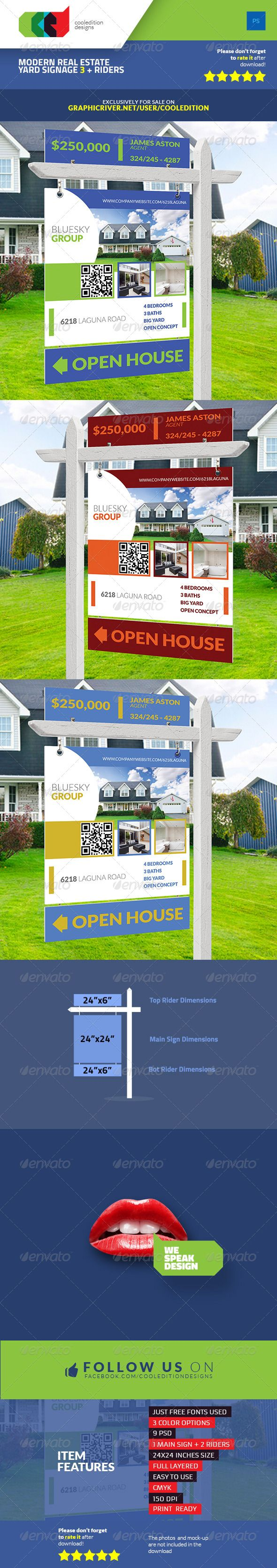 1000 images about Real Estate Signage Design – House for Sale Sign Template