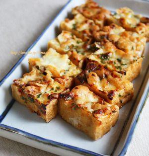 厚揚げの大葉味噌チーズ焼き、ズッキーニの味噌チーズ串焼き、納豆の味噌チーズ春巻き、鶏ささみのネギ味噌チーズ焼き、人参の味噌チーズきんぴら