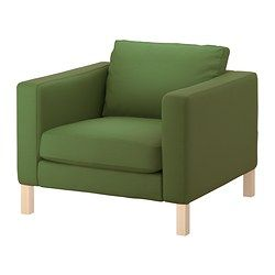 KARLSTAD Chair - Sivik green - IKEA A possible replacement for the green chair... close, but the arms need to be wider.