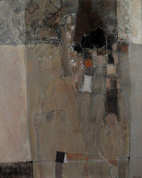 des lignes et des couleurs: VIII - 100x81 - huile sur toile