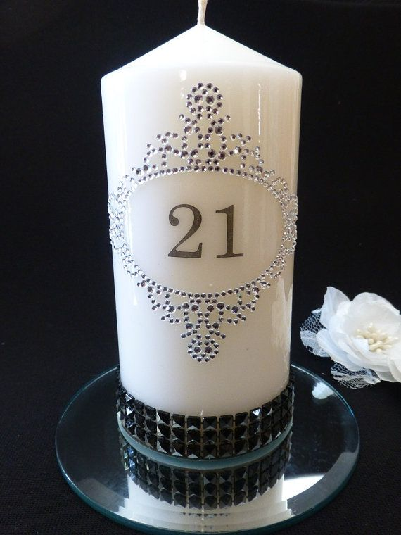Personalised Birthday Candle with Bling just advise by CandleAus