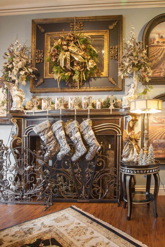 35 Beautiful Christmas Mantels Pinterest Beautiful Christmas Mantels And Mantels
