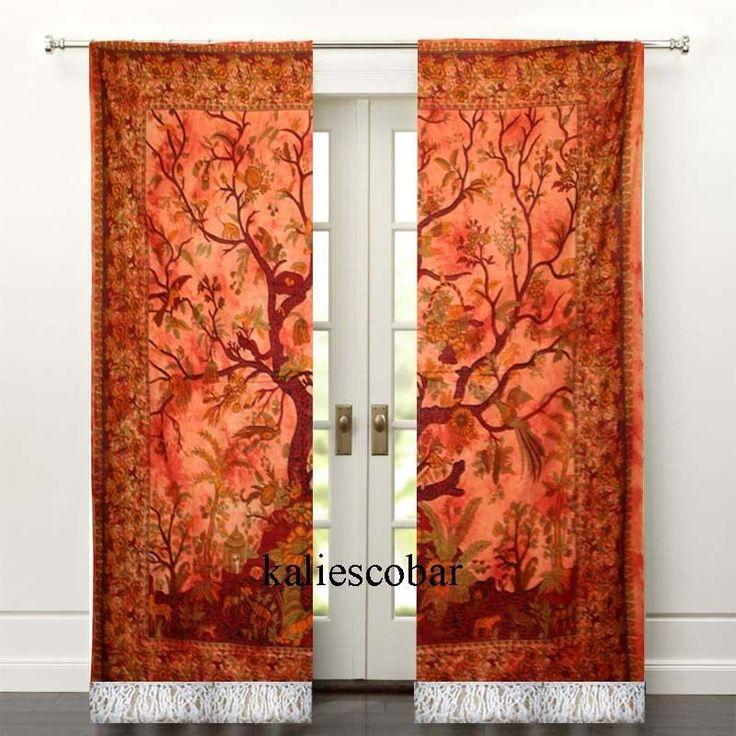 Tree of Life Mandala Door Curtain Tapestries Window Wall Decor Drape With Tassel #Unbranded #Traditional