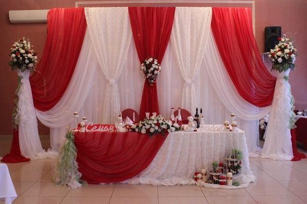 красная свадьба зимняя с элементами салатовОго. - Свадьбы - Сообщество декораторов текстилем и флористов