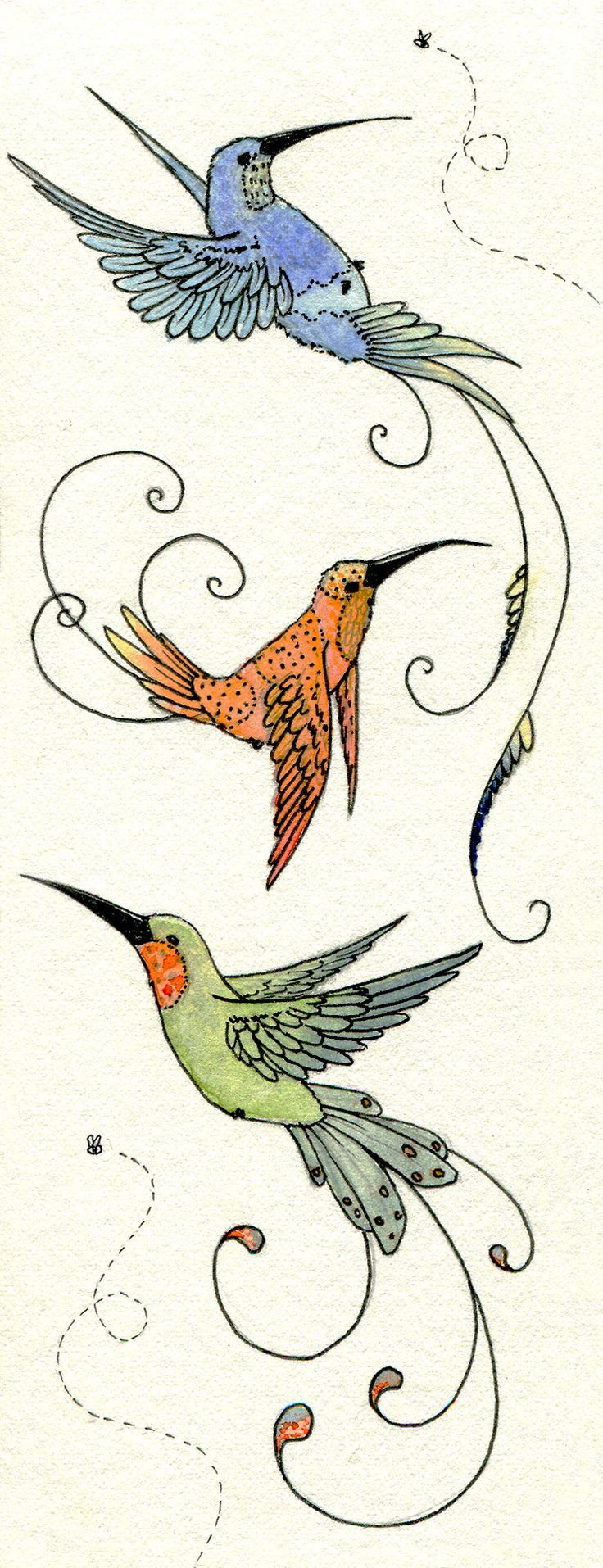 Hummingbird And Honeysuckle Tattoo 3352bec5f9c6f1279281d3e804638f ...
