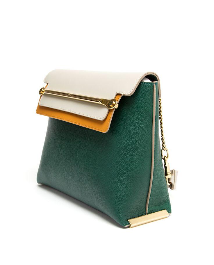 CHLO¨¦ | Clare Contrasting Leather Handbag | Browns fashion ...