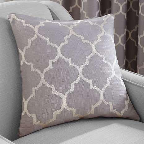 Grey Bali Cushion   Dunelm
