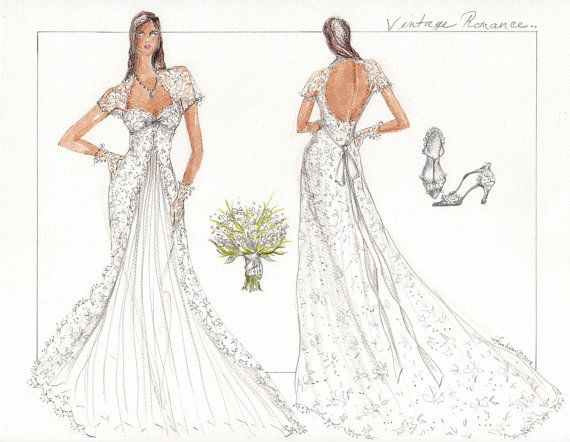 Wedding Dress Sketch Gift: 17 Best Images About Dress Sketches On Pinterest