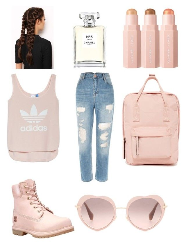 """Untitled #16"" by frances-colby on Polyvore featuring Miu Miu, Madden Girl, Timberland, adidas, LullaBellz, Sephora Collection and Chanel"