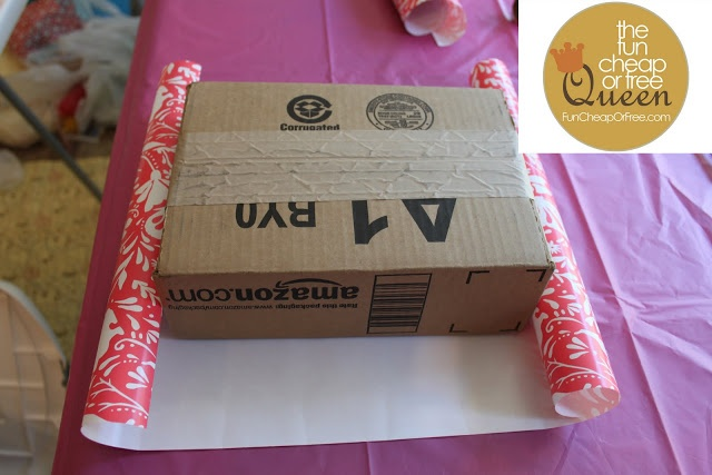 WRAP empty boxes to use as stands on food table  The Fun Cheap or Free Queen: TONS of ideas for a Fun, Cheap, or Free baby shower or party!
