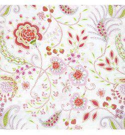 sundara oasis - vinithia - pink - mintás pamutvászon textil