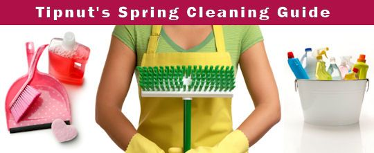 Tipnut's Guide To Spring Cleaning   Here's a peek at this year's battle plan for the big Spring Clean in my home, I've also included references to homemade cleaners, tips for specific jobs and assorted fix-it projects that will help make this year's job a big success. Every surface is conquered, everything is emptied out, washed & scrubbed, decluttered and organized.