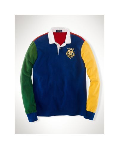 4a4f8a247 Polo Ralph Lauren - Multicolor Custom-Fit Color-Blocked Rugby for Men - Lyst