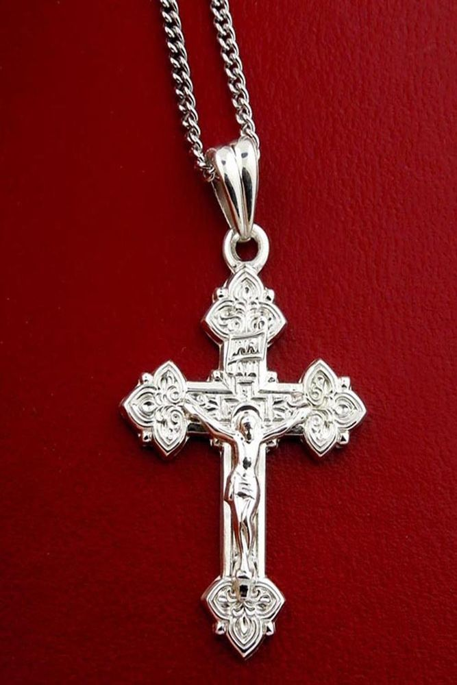 Stunning gifts for easter apex gifts 29 fine russian jewelry 925 sterling silver trinity cross crucifix with 18 chain pendantcross negle Choice Image