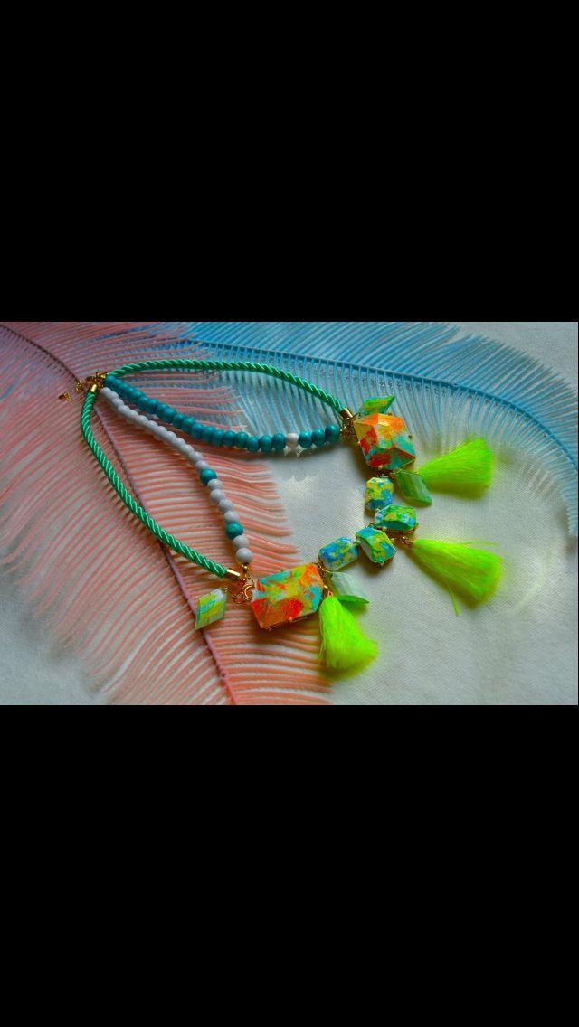Necklace neon color
