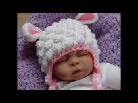 Gorro con hojas en relieve crochet - YouTube