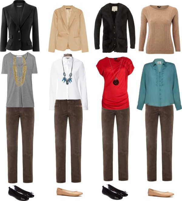 """Brown Corduroy Pants"" by jmcdearmon on Polyvore - this helps..."