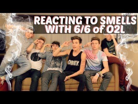 REACTING TO SMELLS w: O2L   kianlawley - YouTube(: