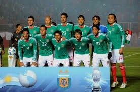 Mexico team group at the 2011 Copa America.